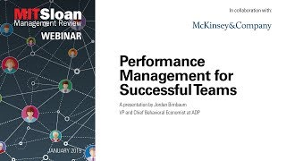 How Do You Go About Performance Management Of Your Team