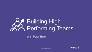 Building A High Performing Team Culture